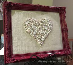 Raising Kids and Crafting Too: Burlap and Pearls