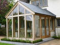 This case study illustrates well the rustic oak style of our oak-framed extensions. There is also a porch incorporated into this project Orangery Extension, Cottage Extension, Garden Room Extensions, House Extensions, Earthship, Oak Framed Extensions, Conservatory Garden, Pergola, Glass House