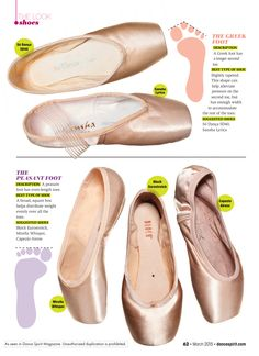 Pointe Shoes for Every Foot Type - Dance SpiritDance Spirit