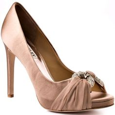 Badgley Mischka formal satin heel