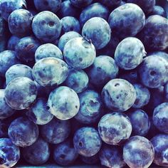 Full of blueberries