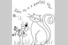 Every Day is a purrfect day. Lots of free patterns and other resources for more.... ~ http://slodive.com/inspiration/showcase/free-embroidery-patterns/