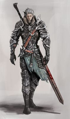 Human Warrior Knight  Armor