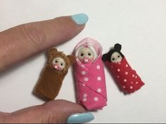 DOLL HOUSE DIY Miniature Bundle Baby Swaddled Tutorial 1/12th scale or BARBIE BABY - YouTube