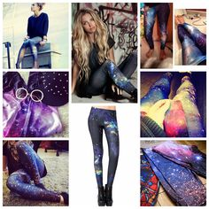 Universe Print Leggings #Romwe AHH! I want to UNIVERSEE LEGGINGS :(