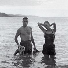 Grace Kelly and Howell Conant in Jamaica, 1955. Photo taken by Grace's sister Peggy.