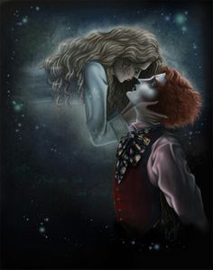 """Alice and mad hatter <3 """"You could stay."""" Oh Alice, why didn't you?"""
