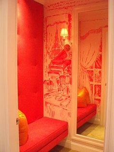 hand-painted toile walls by Lilly Pullitzer print team designer, Paige Smith