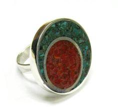 RECONSTITUIDO CON CORAL Y MALAQUITA Metal Clay, Gemstone Rings, Bling, Jewels, Unique Jewelry, Creative, Silver, Inspiration, Coral