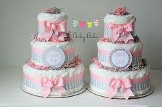 """Découvrez comment créer un gâteau de coucher, le fameux """" diaper cake """" pour votre baby shower ou tout simplement pour offrir à la future maman."""