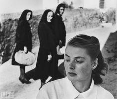 Ingrid Bergman in Italy: Photo by Gordon Parks, 1949 Man I love Gordon Parks :)
