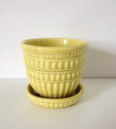 Vintage Yellow McCoy Pottery Planter