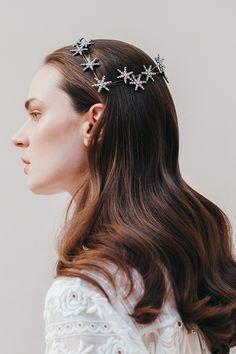 Sparkling headpiece by Jennifer Behr - star crown