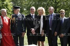 RAF Bomber Command Memorial Foundation Stone Laying Ceremony, London, Britain - 04 May 2011 The Duke of Gloucester, RAF Chaplain Ray Pentland, Air Chief Marshal Sir Stephen Dalton, John Caudwell, Lord Michael Ashcroft and Robin Gibb