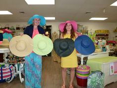 Here are your color choices for sunhats this year!  Come get one with YOUR monogram to wear for Derby Day!
