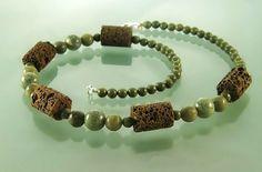 Lava necklace lava stone necklace lava jewelry  lava by styledonna