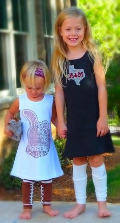 Black Texas A&M Girls / Toddler Dress by littleFanGarb on Etsy