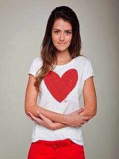 Camiseta Huckão Coração Feminino - Feminino