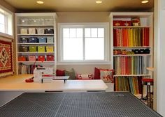 sewing studio - http://www.diyhomeproject.net/sewing-studio