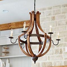 over kitchen table Tuscany 6-Light Chandelier Ballard design
