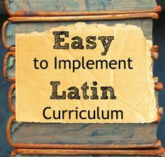 Visual Latin is a great DVD Latin curriculum for kids. The program is relaxed, engaging, and lightly humorous. Two thumbs way up.