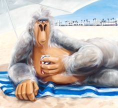 """Saatchi Art Artist Isabelle Alford-Lago; Painting, """"Moe, the Local"""" #art"""