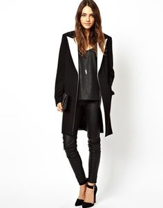 Digging on this ASOS Coat With Contrast Collar, only $100 bones! #asos