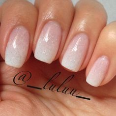 French ombre - a subtle way to have extravagant nails on your wedding day.