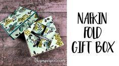 Napkin Fold Gift Box - YouTube