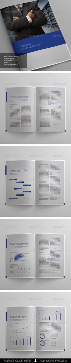 Corporate Brochure #brochure #design #annual #report #print