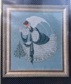 Lavender And Lace Ice Angel Counted Cross Stitch Pattern Chart LL22 Victorian