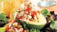 Healthy Tuscan Tuna, White Bean and Avocado Salad Recipe Frozen Appetizers, Spring Mix Salad, Frozen Seafood, Italian Meats, Frozen Vegetables, Energy Snacks, Avocado Salad, Tuna Salad, Eat Smart