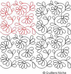 SCF-246 Feather Blooms quilting design