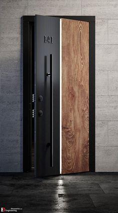 Modern Entrance Door, Main Entrance Door Design, Wooden Front Door Design, Front Gate Design, Door Gate Design, Door Design Interior, Modern Door, Home Room Design, Entrance Doors