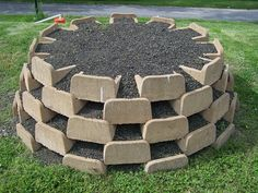 The blocks are created especially for planting living walls - see the open space for planting? Thanks to The Living Wall Company for the pic and info.