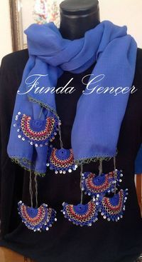Beadwork necklace Crochet beaded necklace by elegantaccessoryshop Filet Crochet, Crochet Motif, Crochet Designs, Crochet Lace, Saree Kuchu Designs, Crochet Decoration, Knit Shoes, Lace Scarf, Tricot