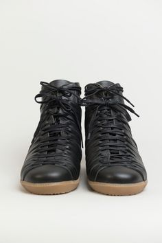 Damir Doma black follet high top lace up sneakers