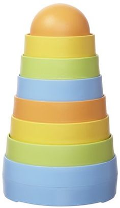 Stacking toy - love the soft colors! An awesome, yet so simple, change to the usual plastic kids toys.
