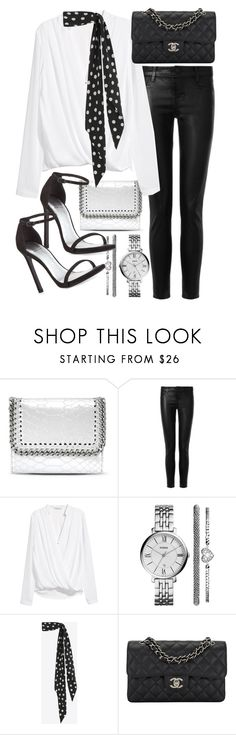 """""""Untitled #20329"""" by florencia95 ❤ liked on Polyvore featuring STELLA McCARTNEY, J Brand, H&M, FOSSIL, Yves Saint Laurent, Chanel and Stuart Weitzman"""