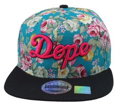 Hey, I found this really awesome Etsy listing at https://www.etsy.com/listing/180807218/flat-bill-snapback-hat-3d-pink-dope-hip