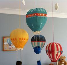 Hot Air Balloon Baby Mobile / Nursery Mobile