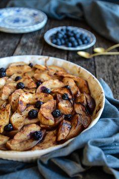 Blueberry and Apple Bake (gluten free, grain free, vegan)