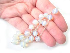 Wedding silver bracelet with amazing Opalites by NurrgulaJewellery, $36.00