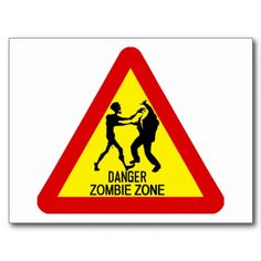 Zombie Zone Post Card