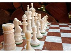 We are experts for manufacturing and exporting #bonechessboards