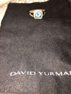 Blue Topaz David Yurman Ring - http://designerjewelrygalleria.com/david-yurman/blue-topaz-david-yurman-ring/