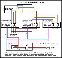 three phase motor connection star delta without timer control, wiring, electrical wiring diagram of star delta