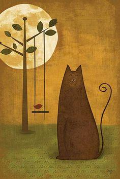 Cat Tails II by Mollie B poster | ArtFuzz