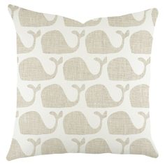 Whales Pillow! So sweet and neutral with just a (faint) hint of FUN!