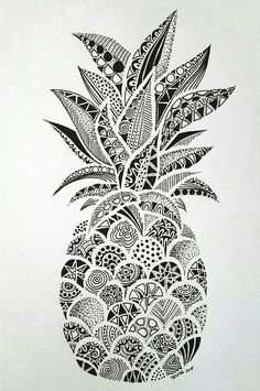ananas, background, draw, food, fruit - image #3576998 by loren ...